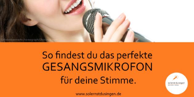 Finde einfach das perfekte Gesangsmikrofon